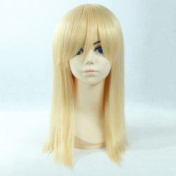 Fashion Long Straight Synthetic Attractive Side Bang Light Blonde Christa Lenz Cosplay Wig