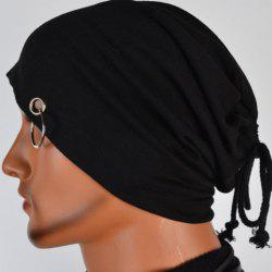 Hot Sale Lace-Up Ring Embellished Skullies Beanie For Men -
