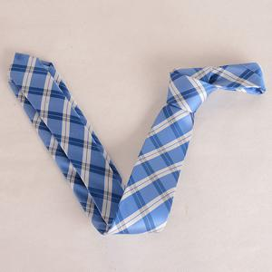 Stylish Tartan Pattern White Matching Design 6CM Width Tie For Men - BLUE