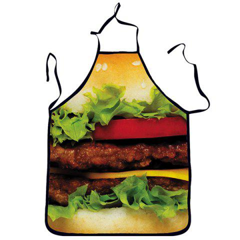 Affordable Quality Creative 3D Colorful Hamburger Pattern Apron