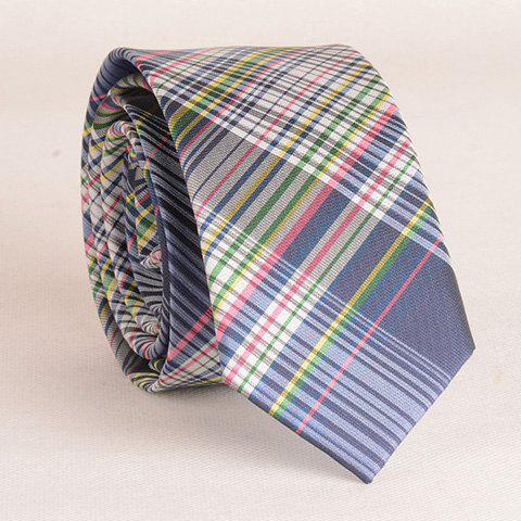 Outfit Stylish Colorful Plaid Pattern 6CM Width Tie For Men