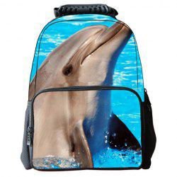 Cute Dolphin Pattern and Zip Design Backpack For Men -