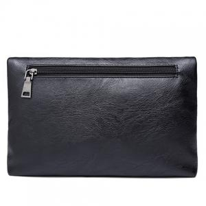 Simple Black and PU Leather Design Clutch Bag For Men -