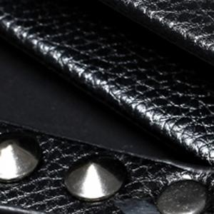 Fashionable Rivets and PU Leather Design Clutch Bag For Men -