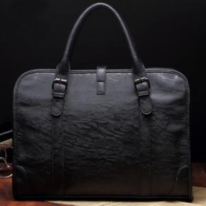 Casual PU Leather and Weaving Design Briefcase For Men -