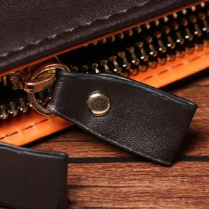 Simple Solid Color and PU Leather Design Clutch Bag For Men -