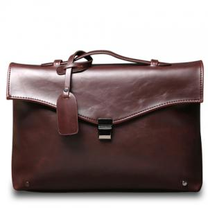 Retro PU Leather and Hasp Design Briefcase For Men - Coffee - 38
