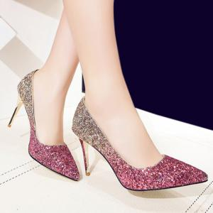 Stunning Sequins and Gradient Color Design Pumps For Women -