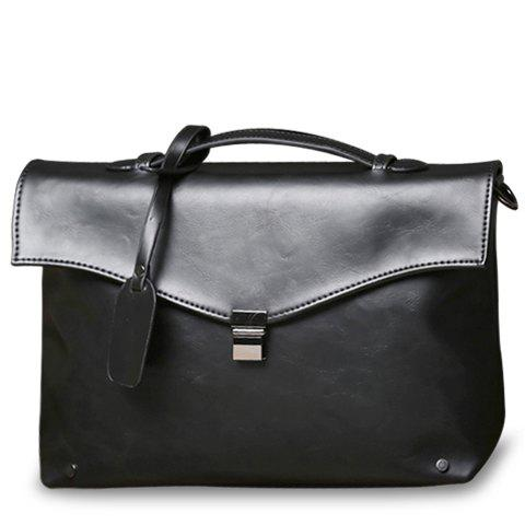 Hot Retro PU Leather and Hasp Design Briefcase For Men