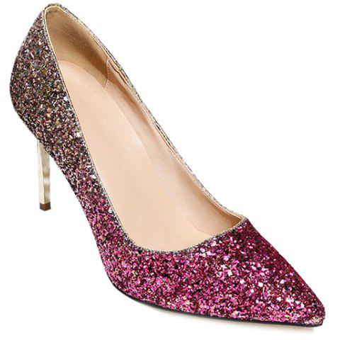 Trendy Stunning Sequins and Gradient Color Design Pumps For Women