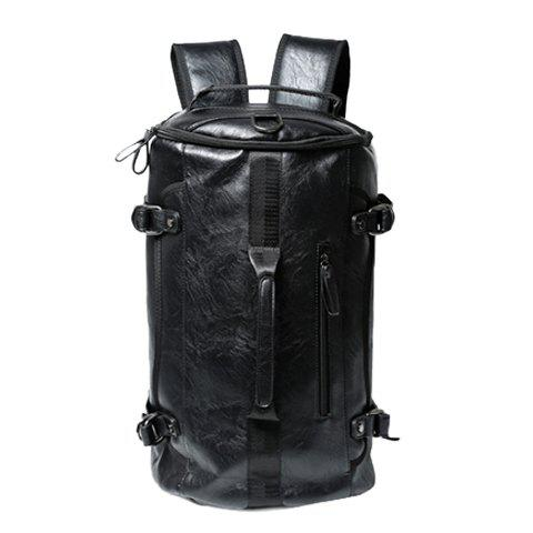 Buy Casual Black and Buckle Design Backpack For Men