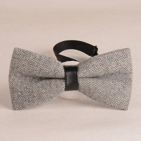 Shops Stylish Light Gray Knitted Bow Tie For Men LIGHT GRAY
