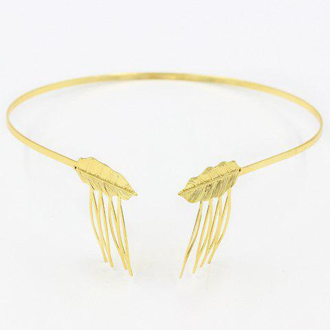 Outfits Trendy Solid Color Leaf Shape Hairband For Women