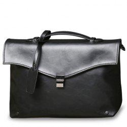 Retro PU Leather and Hasp Design Briefcase For Men -