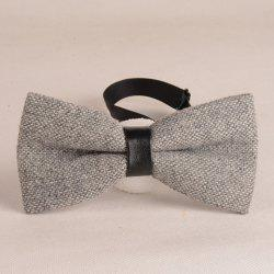 Stylish Light Gray Knitted Bow Tie For Men