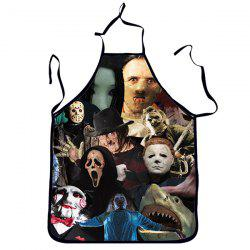 Quality Creative 3D Horrible Character Pattern Printed Apron -
