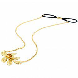 Trendy Flower and Leaf Shape Link Chain Hairband For Women -