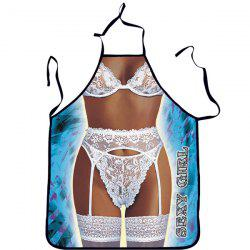 Quality Creative Sexy Woman in Lingerie Pattern Printed Apron -