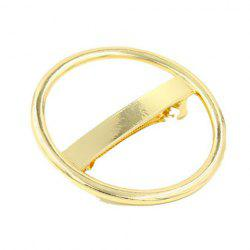 Chic Solid Color Hollow Our Circular Shape Hairgrip For Women -
