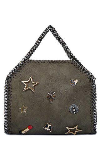 New Trendy Chains and Star Design Tote Bag For Women