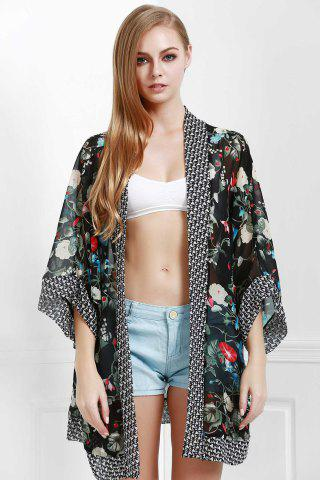 Outfits Summer Chiffon Floral Beach Flowy Cardigan Kimono Cover Up