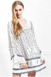 Floral Long Sleeve Tunic Casual Dress