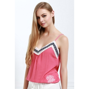 Stylish Spaghetti Strap Laciness Women's Tank Top -