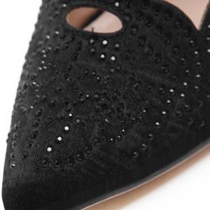 Fashion Hollow Out and Rhinestones Design Pumps For Women -