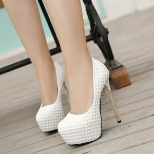 Party Embossing and Platform Design Pumps For Women -