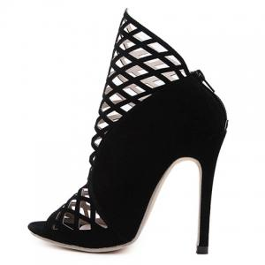 Sexy Hollow Out and Black Design Peep Toe Shoes For Women -