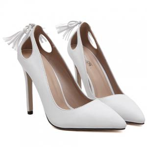 Sweet Tassels and PU Leather Design Pumps For Women -