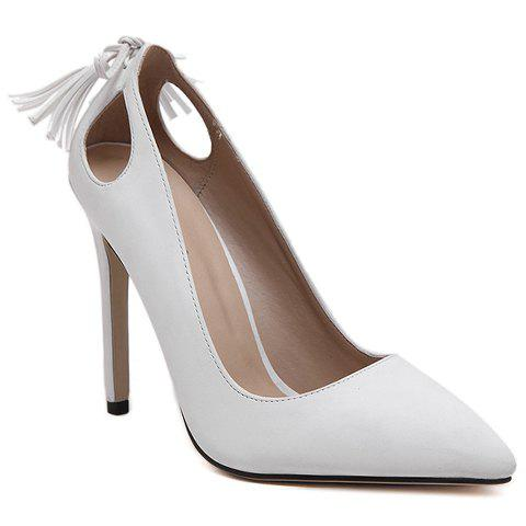 Shops Sweet Tassels and PU Leather Design Pumps For Women