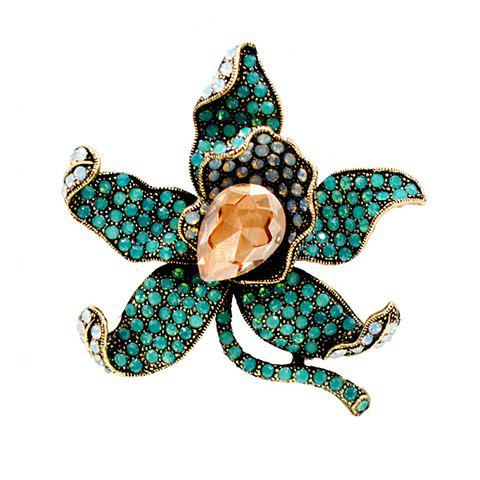 Affordable Charming Faux Crystal Rhinestoned Flower Shape Brooch For Women