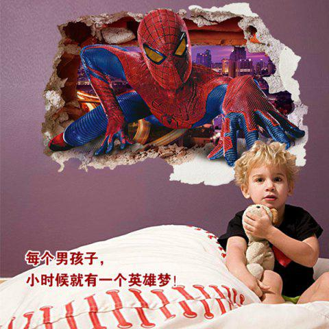 Spiderman Design 3D Wall Sticker 168590501