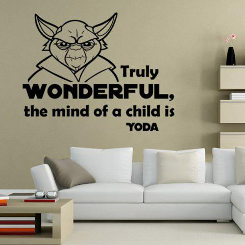 Discount Hot Sale Letter and Character Design Wall Sticker
