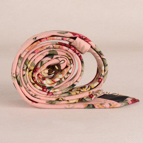 Hot Stylish Flower Pattern 5CM Width Pink Tie For Men - PINK  Mobile