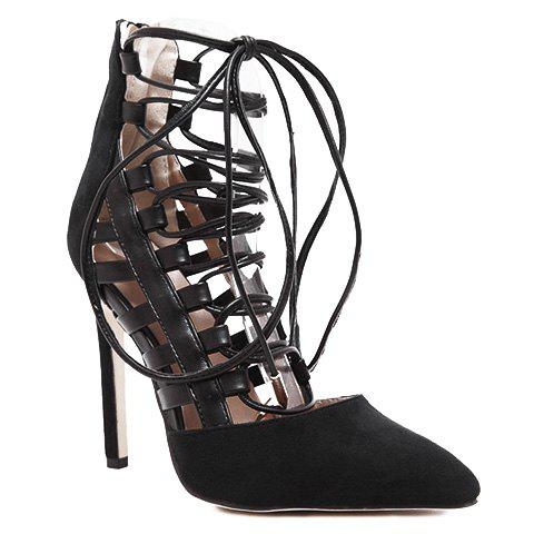 Cheap Trendy Hollow Out and Lace-Up Design Pumps For Women