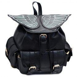Stylish Wings and Black Design Satchel For Women