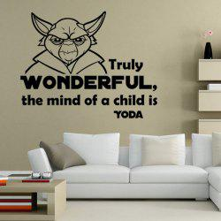 Hot Sale Letter and Character Design Wall Sticker -