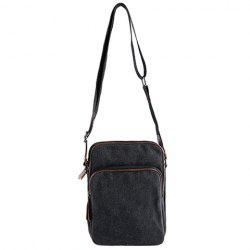 Casual Denim and Zips Design Messenger Bag For Men