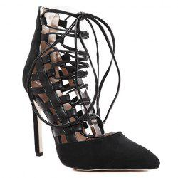 Trendy Hollow Out and Lace-Up Design Pumps For Women -