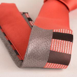 Stylish Silver Thread Wide Stripe Pattern 6CM Width Red Tie For Men - RED