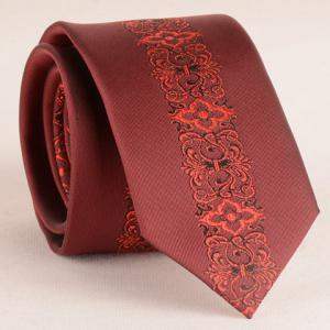 Stylish Retro Palace Jacquard Middle 6CM Width Wine Red Tie For Men