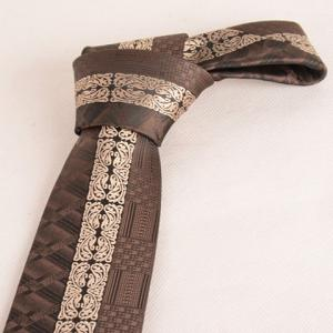 Stylish Middle Light Coffee Retro Paisley Jacquard 6CM Width Tie For Men -