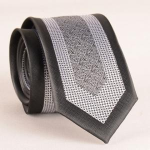 Stylish Weaving Jacquard Patchwork 6CM Width Tie For Men - Black - M