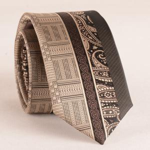 Stylish Retro Paisley Jacquard Patchwork 6CM Width Tie For Men - Coffee - S