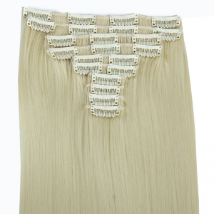 Trendy High Temperature Fiber Long Straight Hair Extensions For Women -