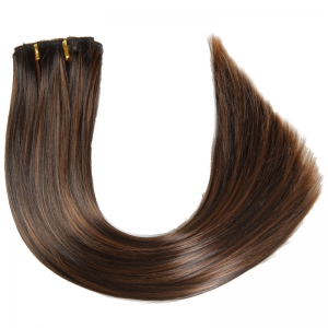 Fashion High Temperature Fiber Straight Clip-In Long Hair Extensions For Women - COLORMIX
