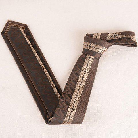Discount Stylish Middle Light Coffee Retro Paisley Jacquard 6CM Width Tie For Men - COFFEE  Mobile
