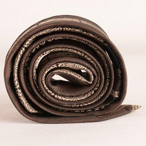 Chic Stylish Middle Light Coffee Retro Paisley Jacquard 6CM Width Tie For Men - COFFEE  Mobile